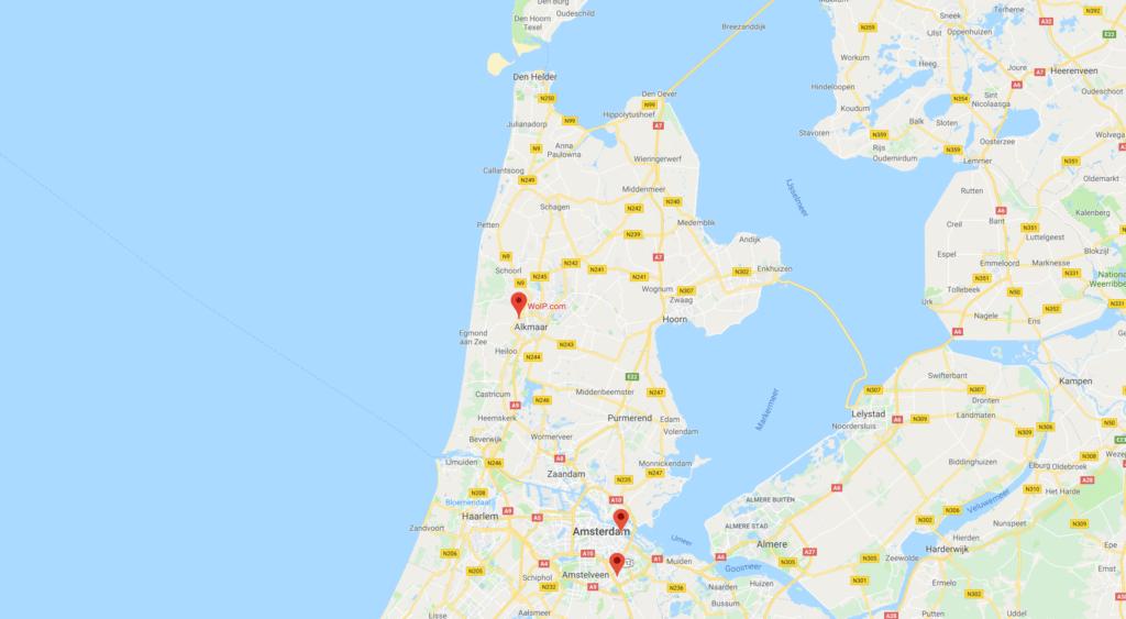 kaart woip datacenters